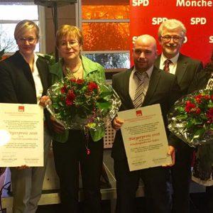 Pressefoto Bürgerpreis (v.l.n.r. Tony Trapp, Gülistan Yüksel, Christina Kampmann, Gudrun Grun, Alxander Vels, Hans-Willi Körfges, Simone Schüller, Winfried Kroll und Josephine Gauselmann)